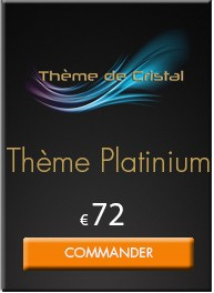 Thème de Cristal Platinium